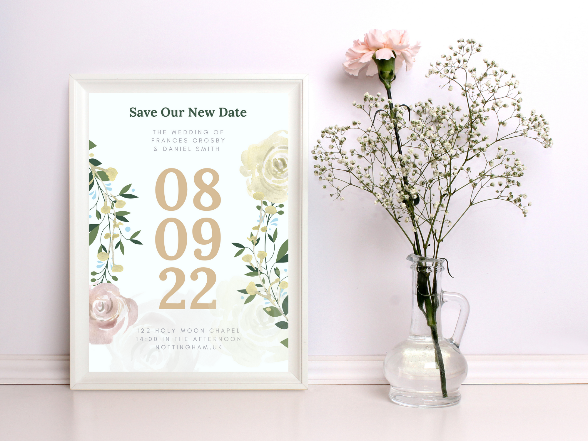 Save The NEW Date floral VWUK Designs